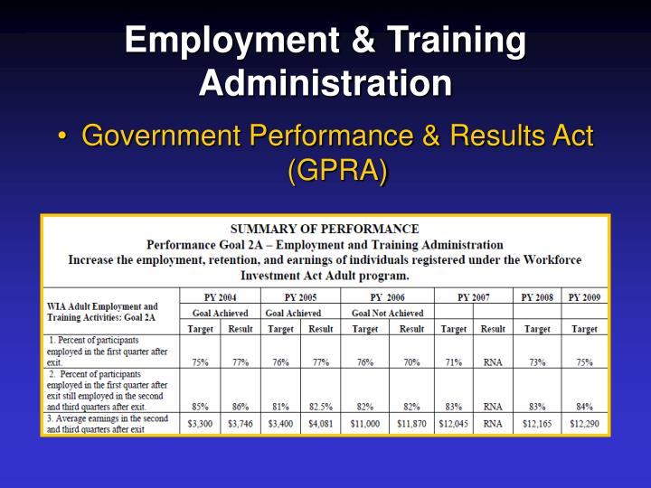Employment & Training Administration