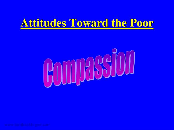 Attitudes toward the poor