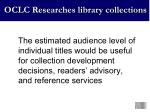 oclc researches library collections6