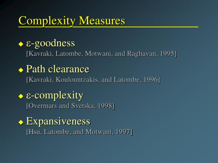 Complexity Measures