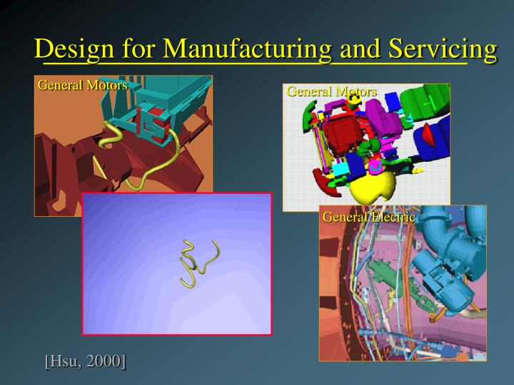 Design for Manufacturing and Servicing
