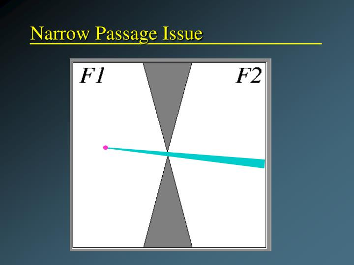 Narrow Passage Issue