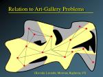 relation to art gallery problems