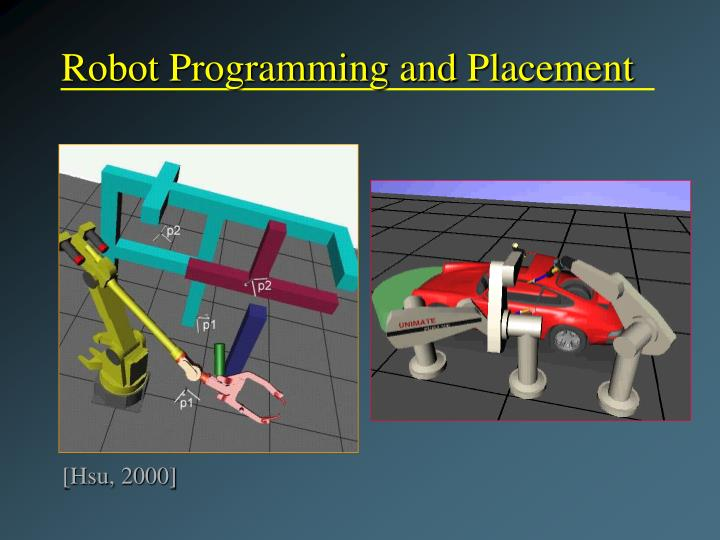 Robot Programming and Placement