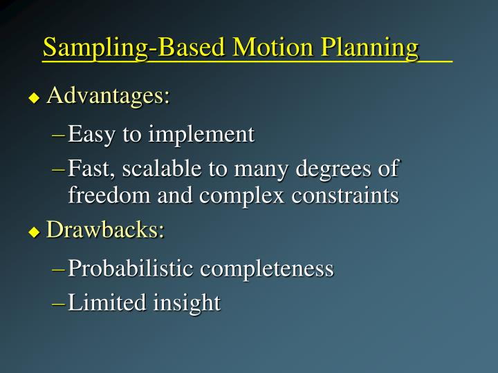 Sampling-Based Motion Planning