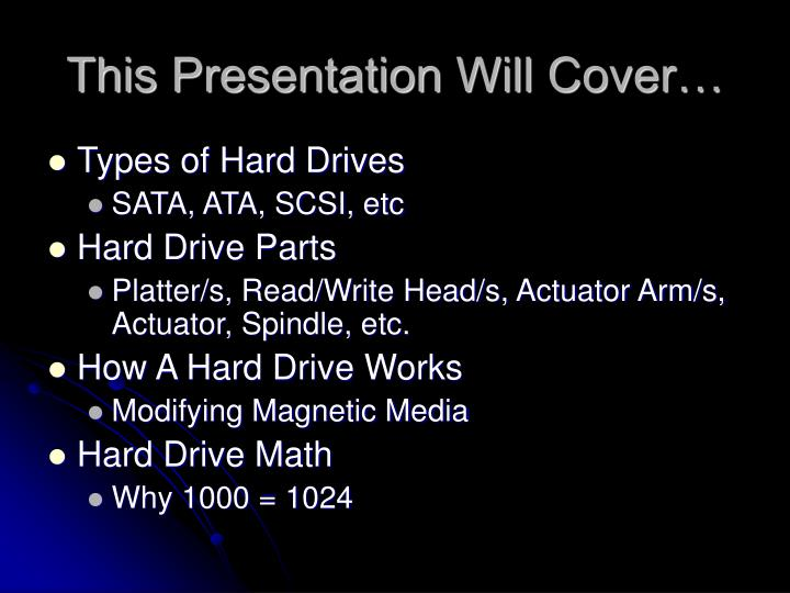 This Presentation Will Cover…
