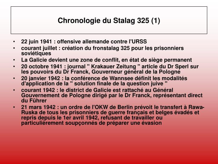 Chronologie du Stalag 325 (1)