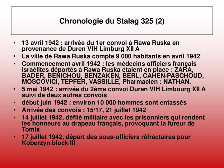 Chronologie du Stalag 325 (2)