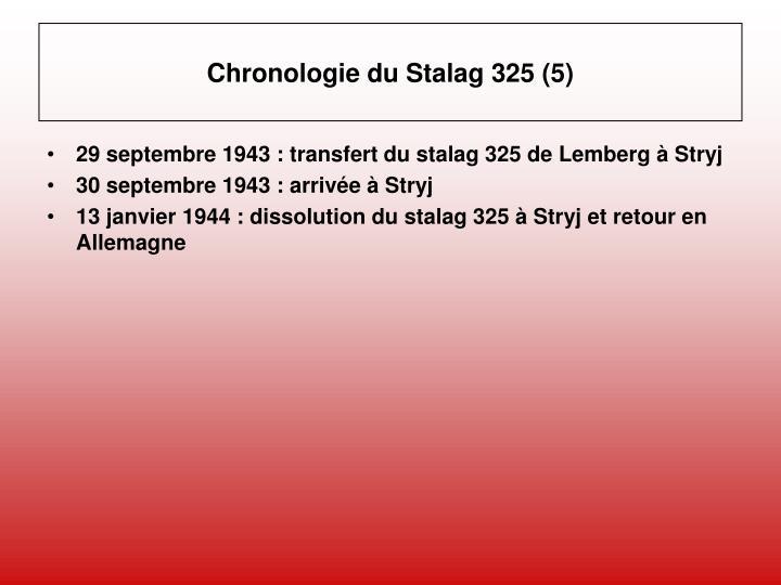 Chronologie du Stalag 325 (5)