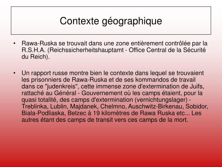Contexte géographique