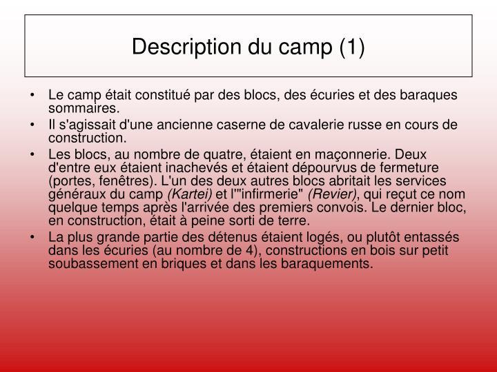Description du camp (1)