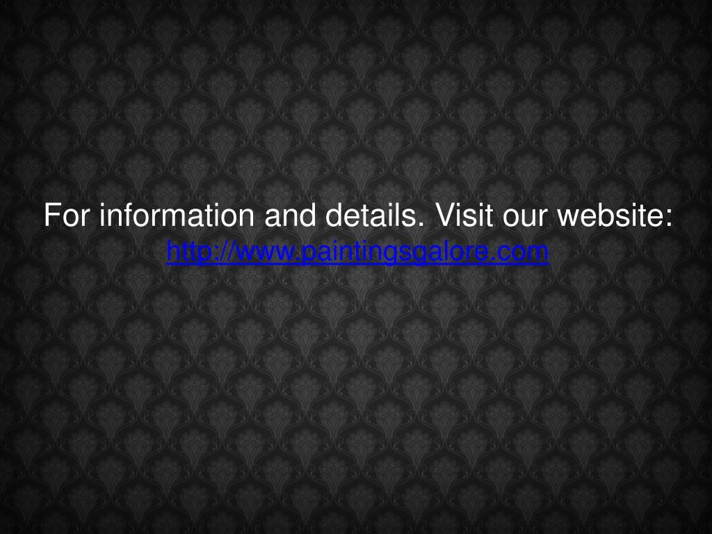 For information and details. Visit our website:
