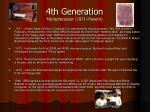 4th generation microprocessor 1971 present