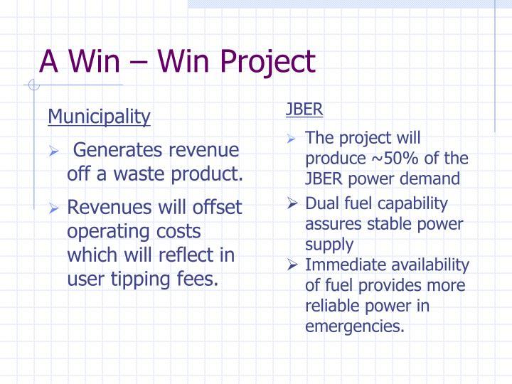 A Win – Win Project
