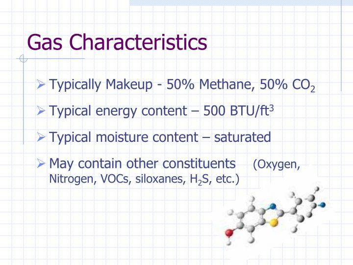 Gas Characteristics