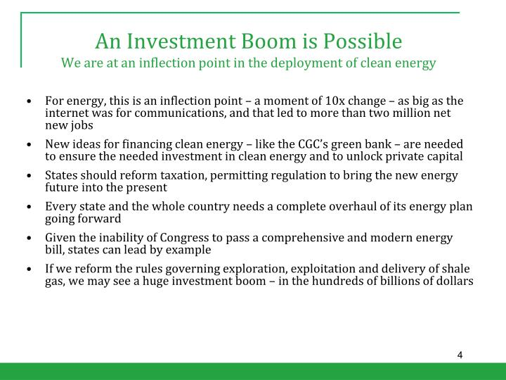 An Investment Boom is Possible