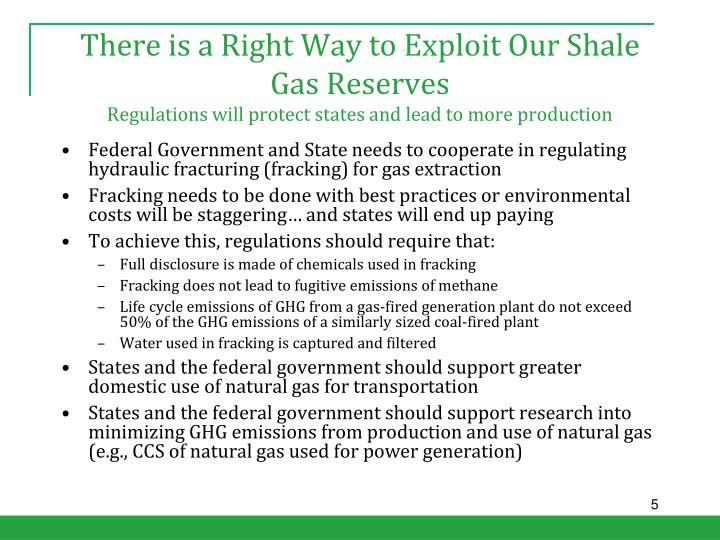 There is a Right Way to Exploit Our Shale Gas Reserves