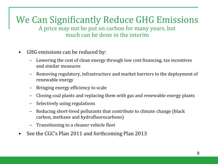We Can Significantly Reduce GHG Emissions