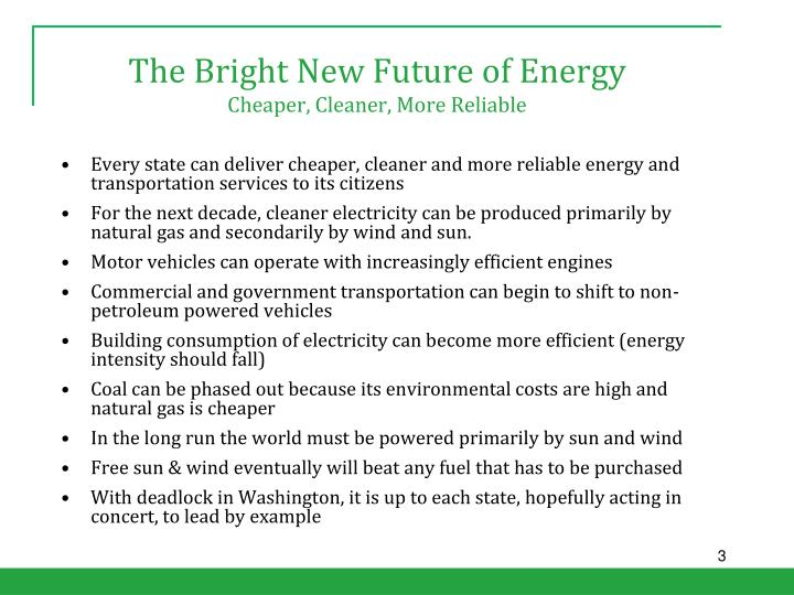 The bright new future of energy cheaper cleaner more reliable