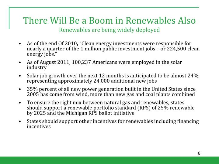 There Will Be a Boom in Renewables Also