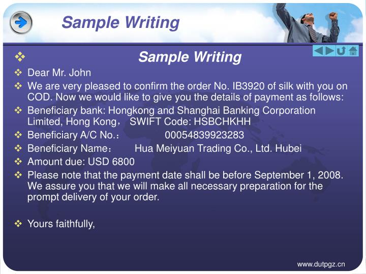 Sample Writing