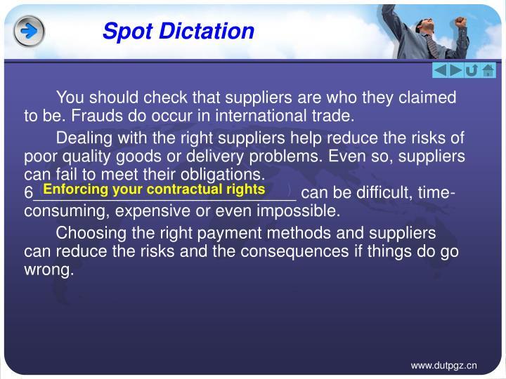 Spot Dictation