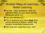 multiple ways of learning better learning