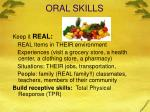 oral skills