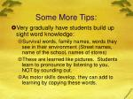 some more tips