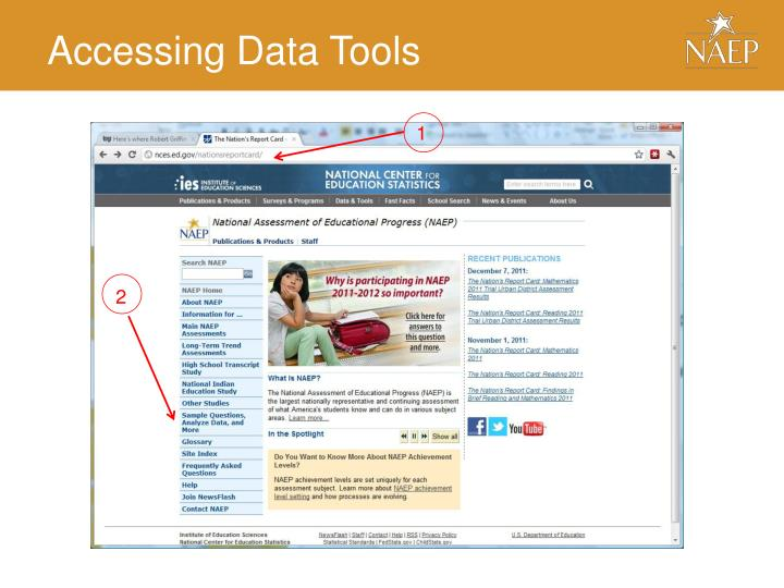 Accessing Data Tools