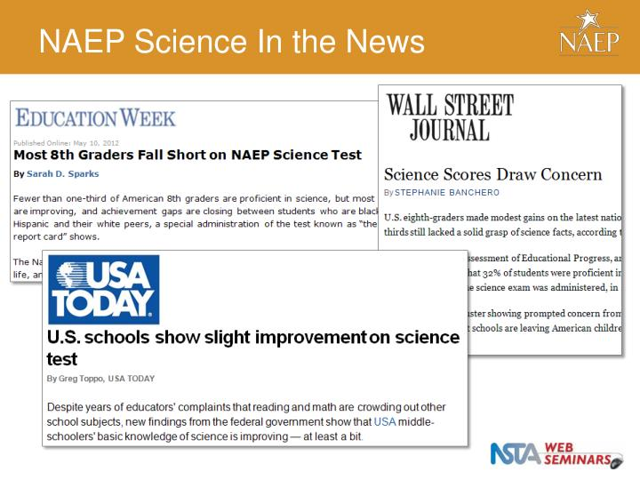 NAEP Science In the News