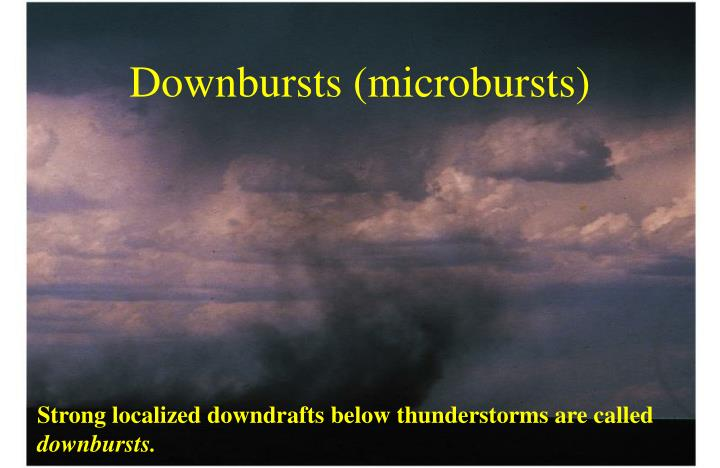 Downbursts (microbursts)