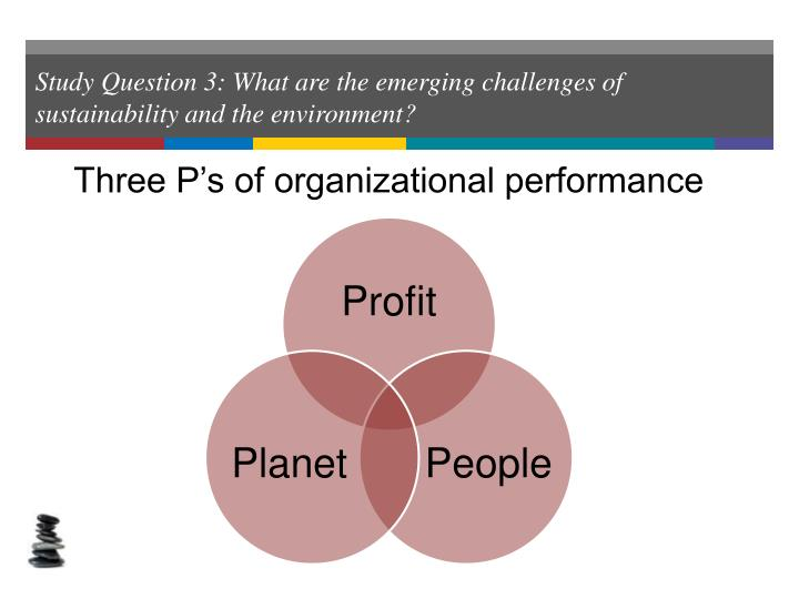 Study Question 3: What are the emerging challenges of sustainability and the environment?