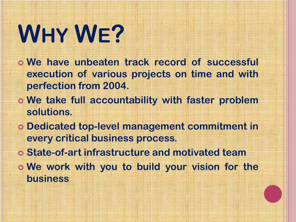 Why We?