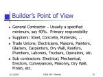 builder s point of view