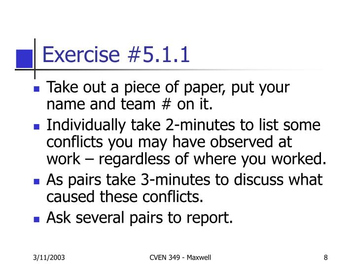Exercise #5.1.1
