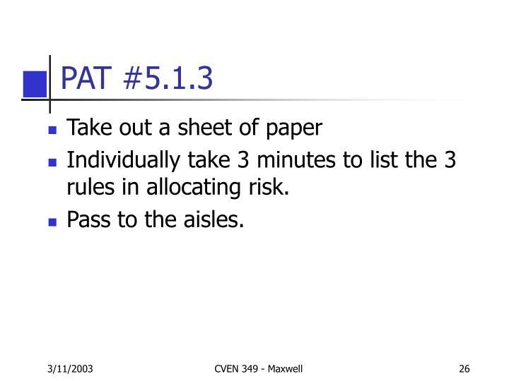 PAT #5.1.3