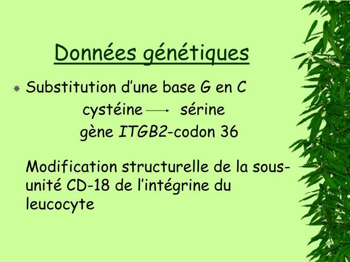 Données génétiques