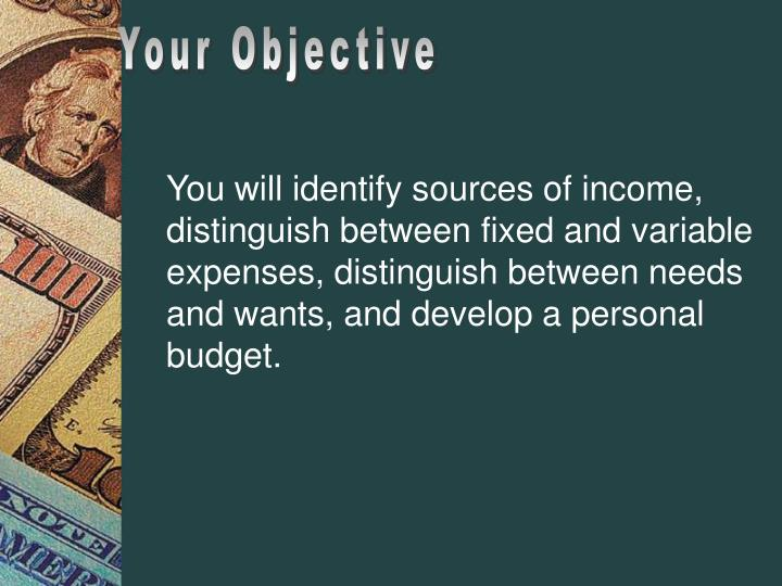 Your Objective