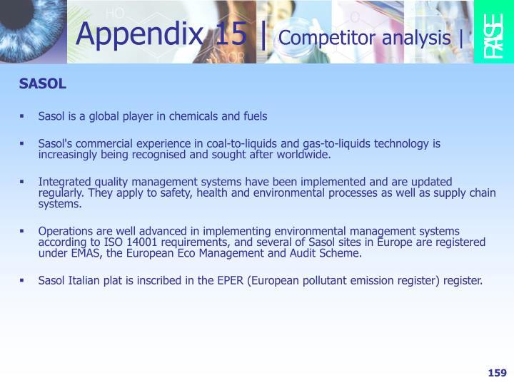 Appendix 15 |