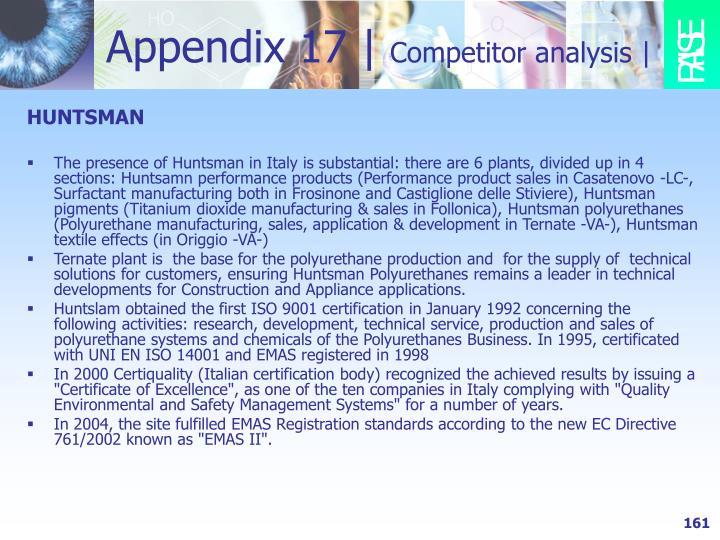 Appendix 17 |