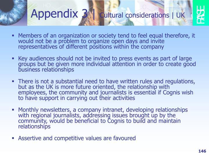 Appendix 3 |