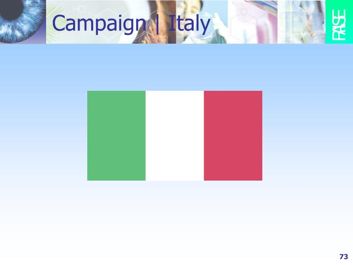 Campaign | Italy