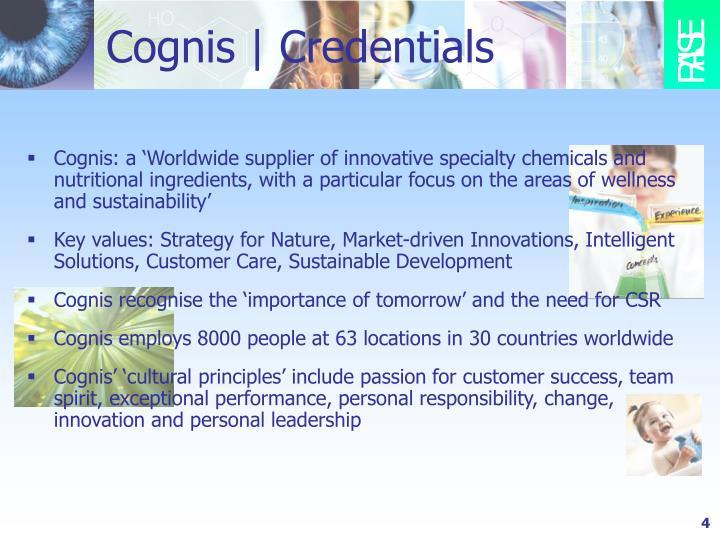 Cognis | Credentials