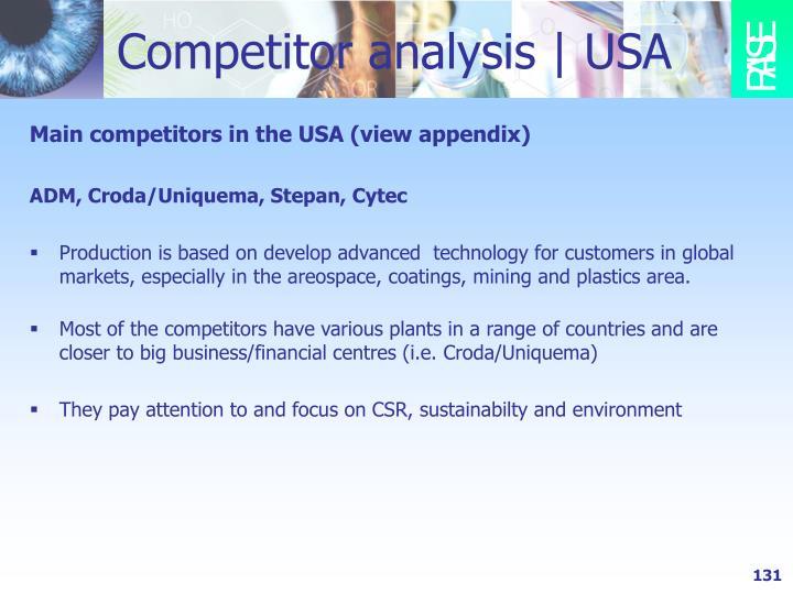 Competitor analysis | USA