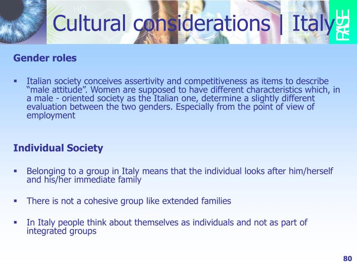 Cultural considerations | Italy