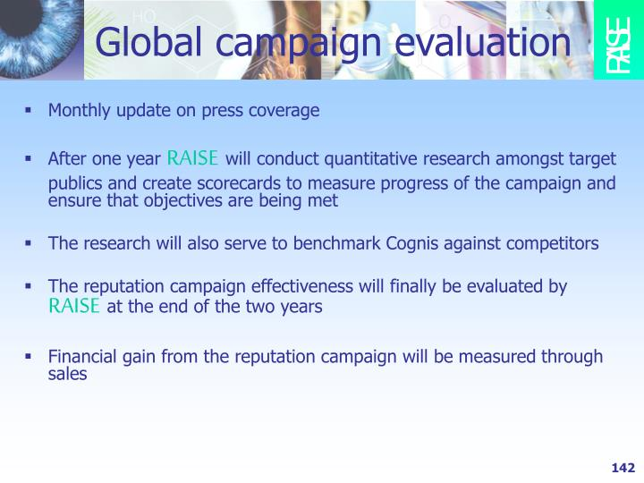 Global campaign evaluation