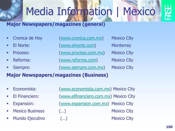 Media Information | Mexico