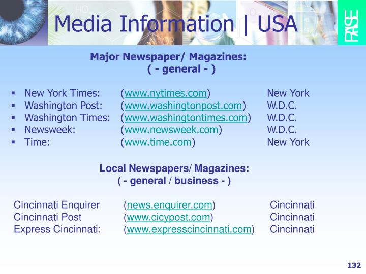 Media Information | USA