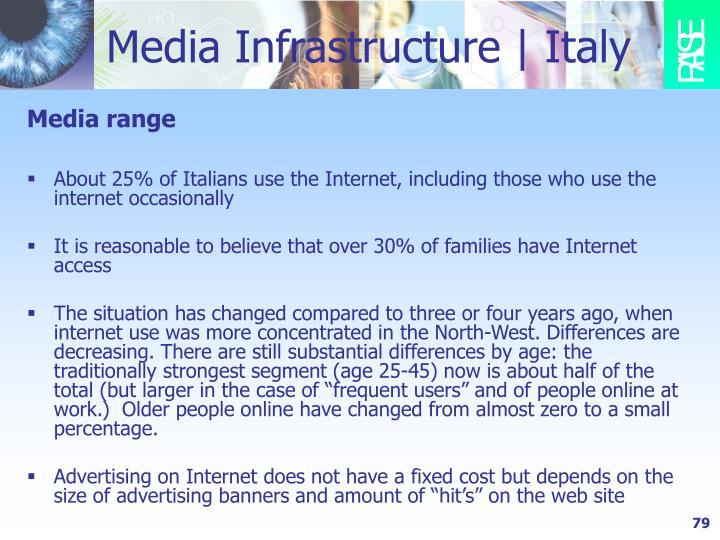 Media Infrastructure | Italy